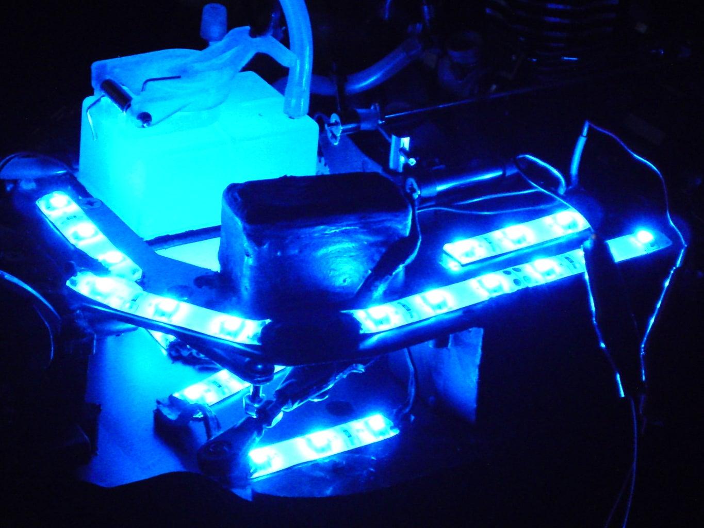 RC Nitro Car: Glow-in-the-Dark Mods!
