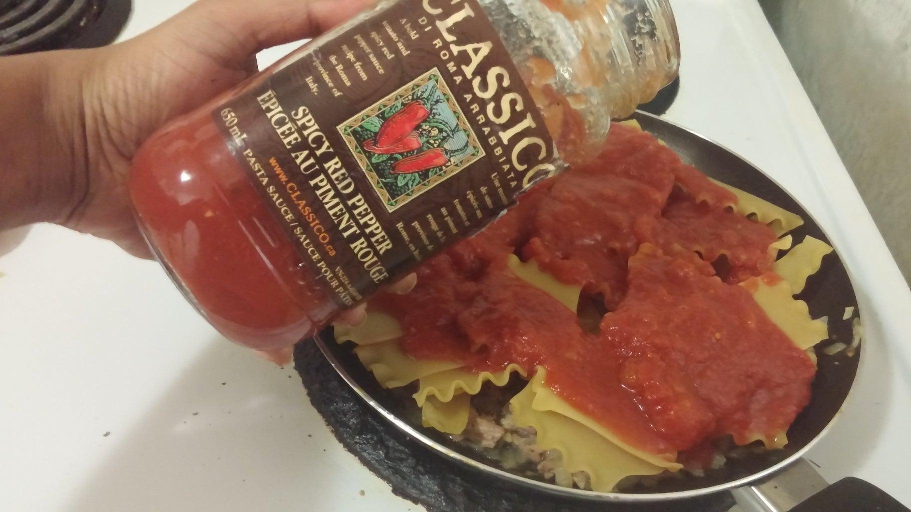 Cook Chicken & Lasagna Noodle