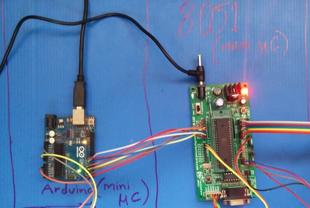 The Arduino Sends That Value Through the Digital Pins to the Port 1 of the 8051 Microcontroller.