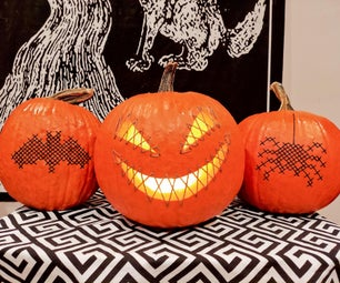 Cross-Stitched & Embroidered Pumpkins