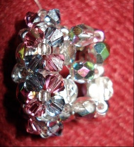 Top of Pyramid Style 12 Flower Crystal Ring