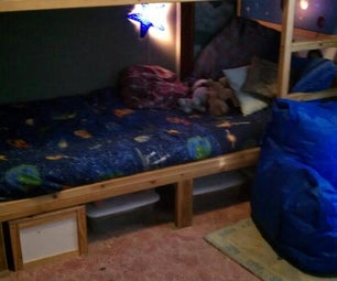 Ikea Kura Bed Converted to Bunkbed