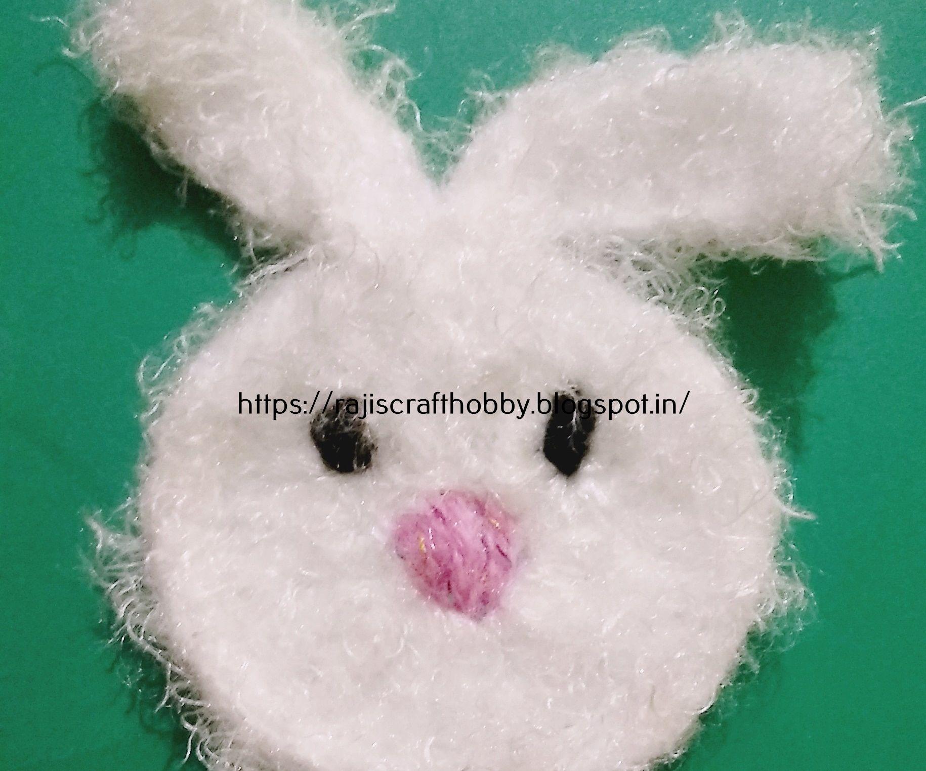 Easy Crochet Bunny Applique Pattern