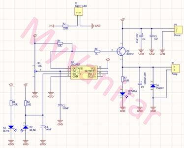 Figure-7: Schematic Diagram of the Automatic Hand Sanitizer Dispenser (Second Design)