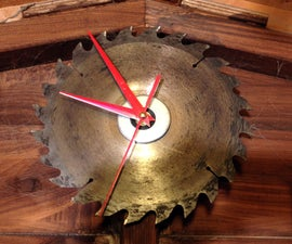 Simple Circular Saw Blade Clock