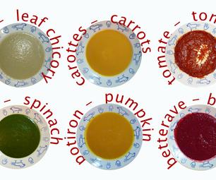 Almost a Rainbow of Soup : a Basic Recipe – Presqu'un Arc-en-ciel De Soupe : Recette De Base