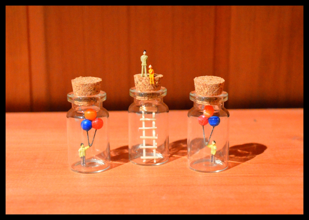 Miniature Bottle Sculptures