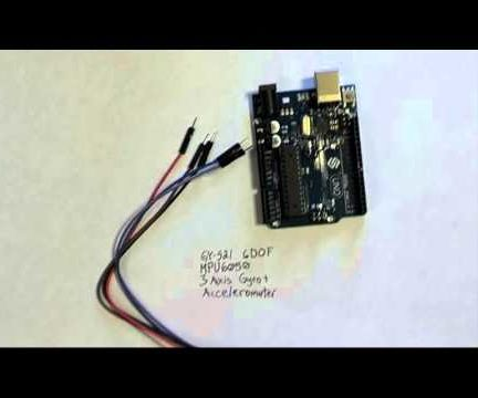GY-521 MPU6050 3 Axis Gyroscope and Accelerometer With Arduino