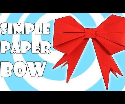Simple Origami Gift Bow / Ribbon Instructions