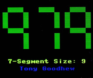 Simulated 7-Segment Numbers With Pico and Waveshare Display