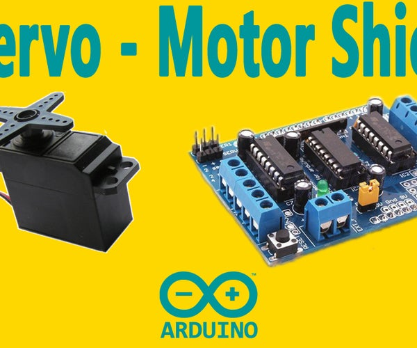 Arduino : How to Control Servo Motor With Motor Shield