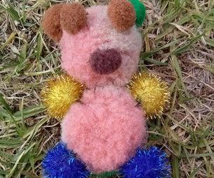 Pom Poms Teddy Bear