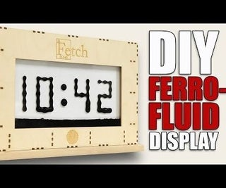 Mesmerizing Ferrofluid-Display: Silently Controlled by Electromagnets