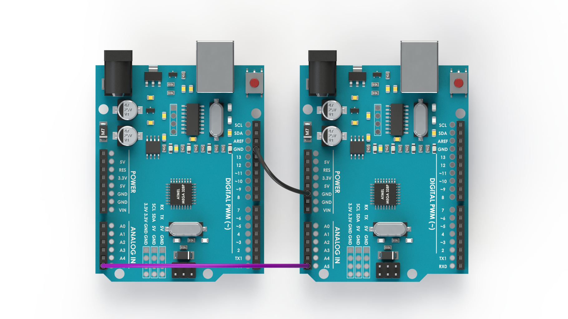 I2C Wiring of Two Arduinos