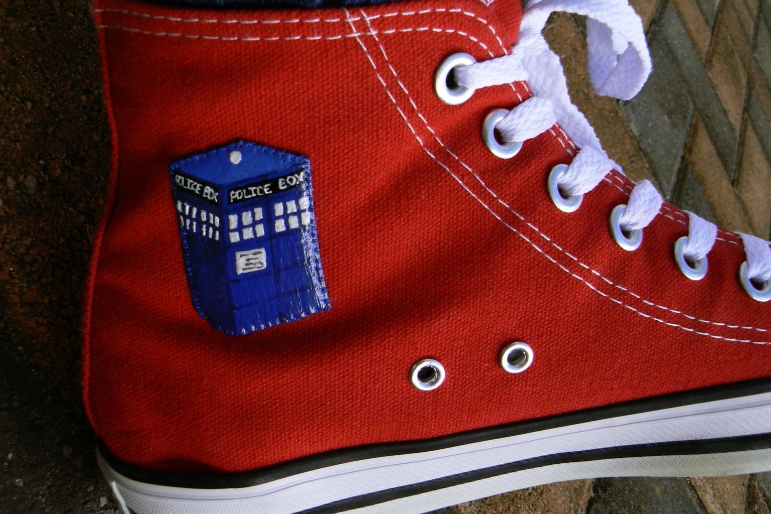 Doctor Who Tardis Sneakers
