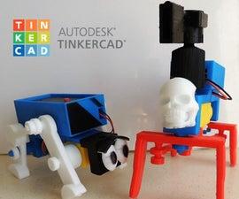 学校的Tinkercad Robotics:创建两个步行机!