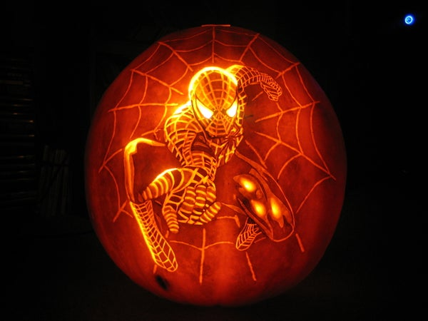 How to Carve Spiderman