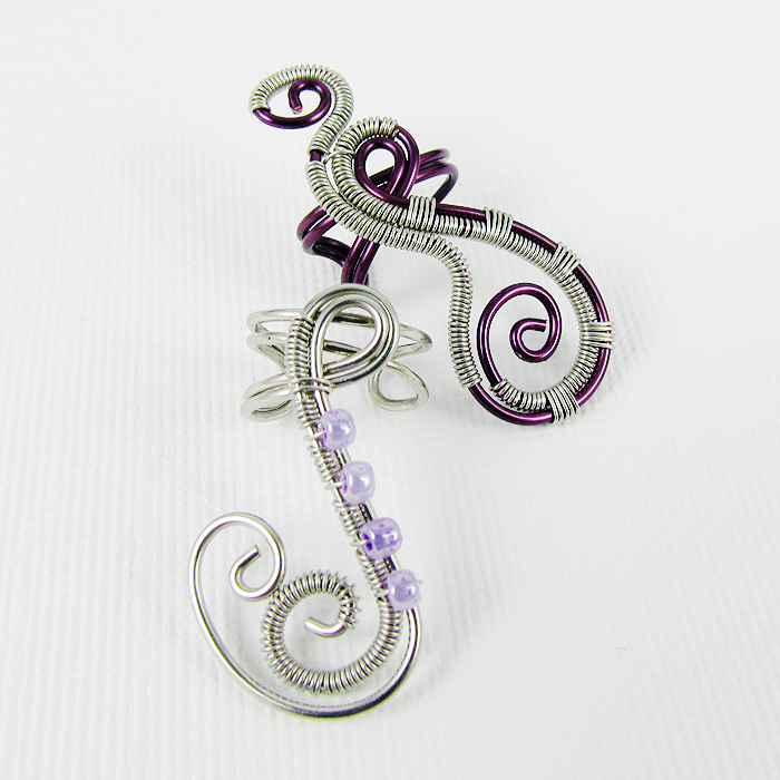 Woven Freeform Swirly Ear Cuff