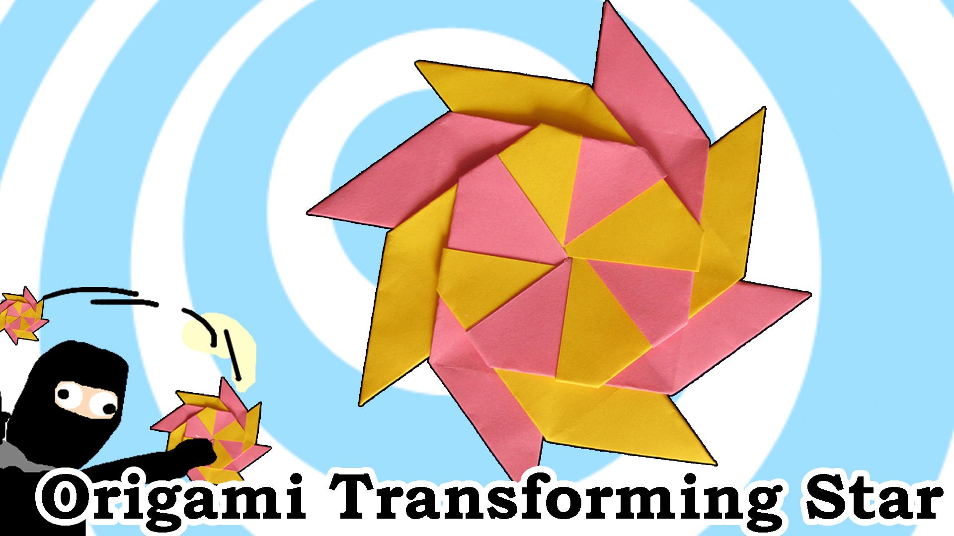 Origami Transforming Ninja Star
