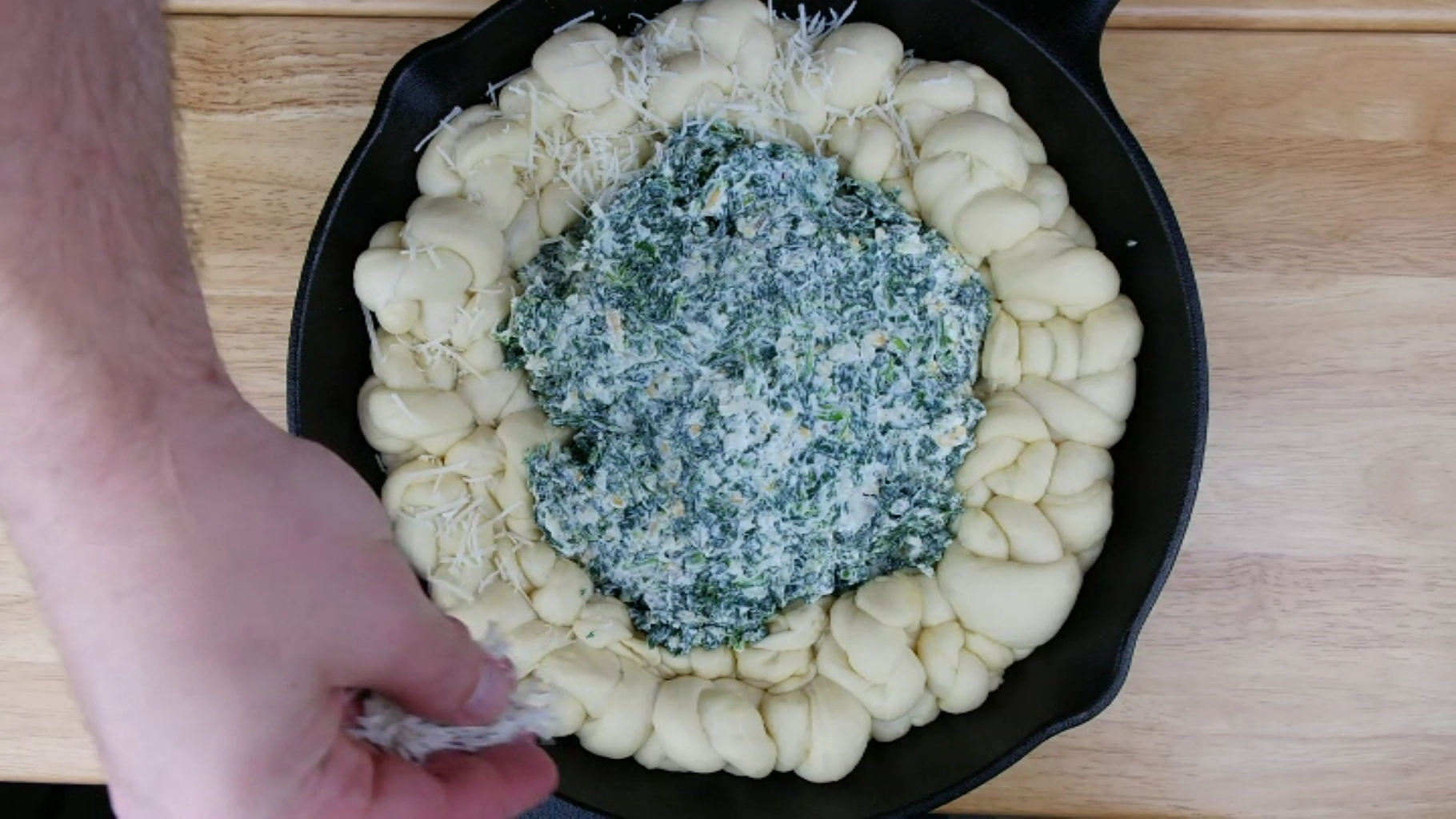 Add the Filling to the Pan