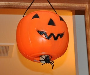 Motion Activated Dropping Spider, Low Cost, No Programming