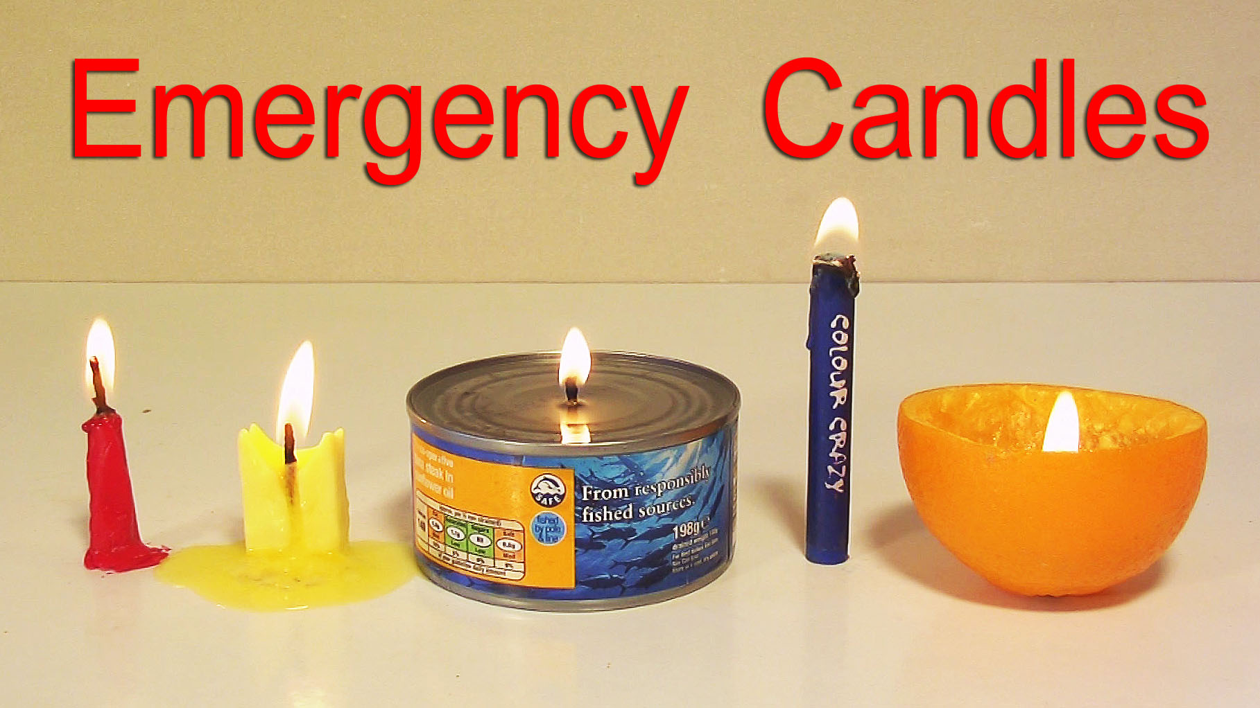 How to Make 5 Emergency Candles