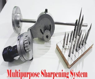 Multipurpose Sharpening Jig for V-Bits, Drill Bits and Graver