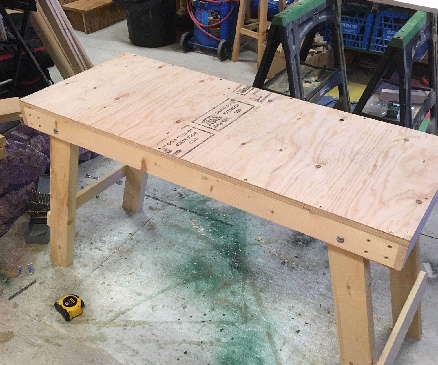 Folding Wood Work Platform