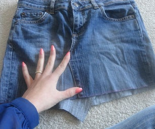 Turn Old Jeans Into SKIRT!