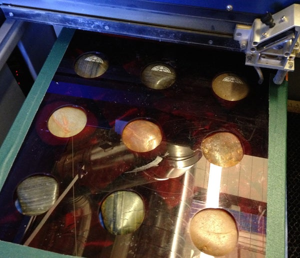 Quick Jig for Laser Etching Multiple Irregularly Shaped Objects (river Rocks)