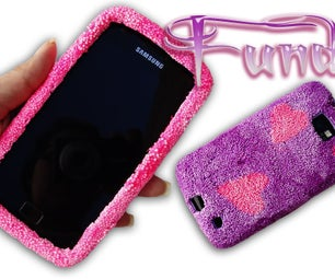 Mobile Cases or Covers Made of Ceramic Granulated Goma Eva and DIY