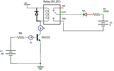 Relay Switch Circuit Using NPN Transistor