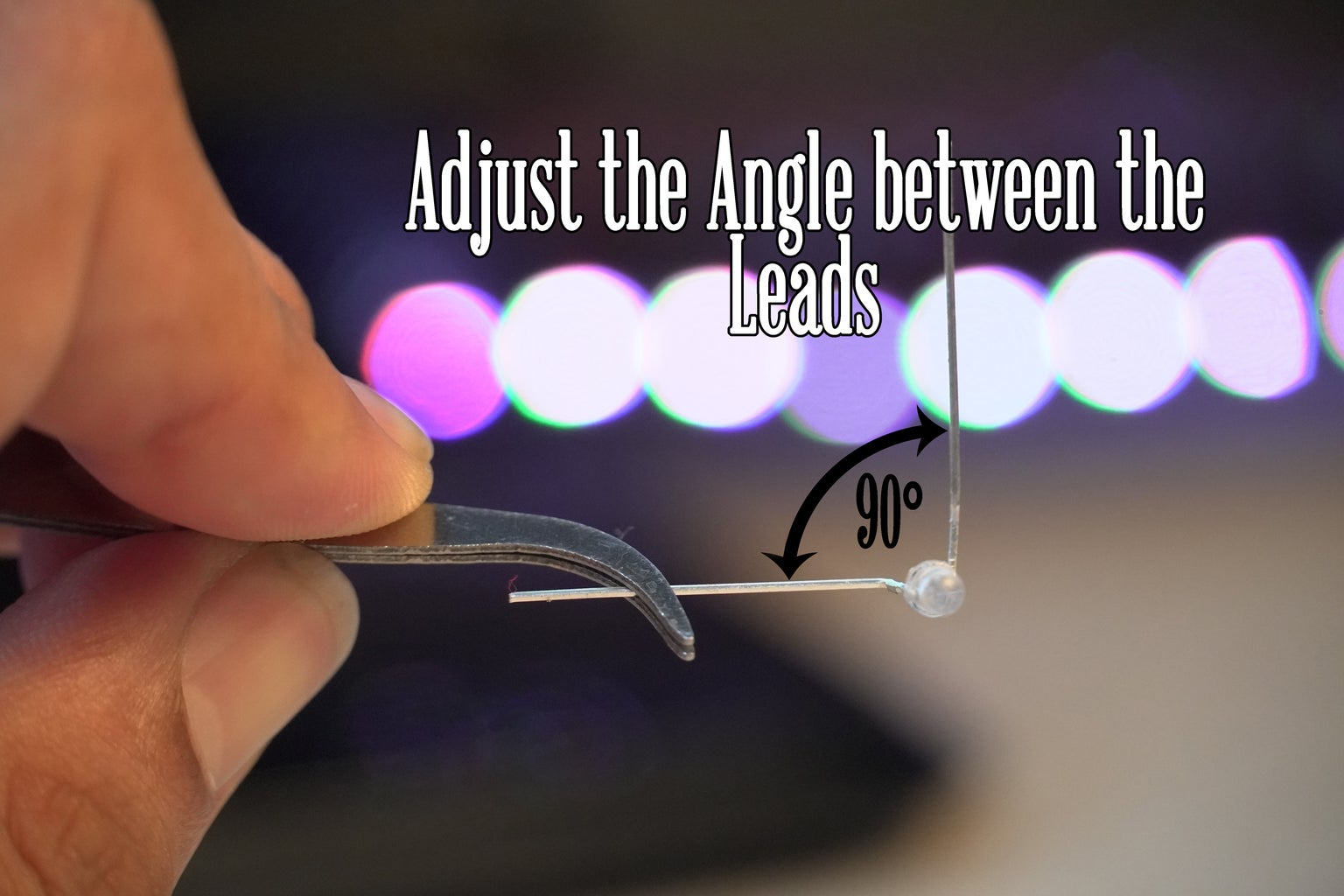 Fold the LEDs ( MOST IMPORTANT!)