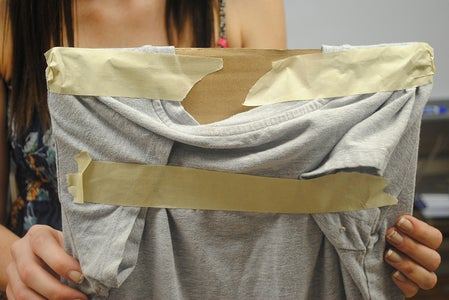 Tape the Edges of the Shirt