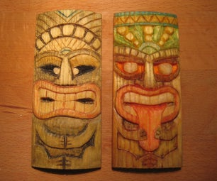 Miniature Tiki Mask, Second Attempt