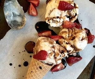 香草灌注香醋冰淇淋