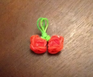 Rainbow Loom Cherry Charm