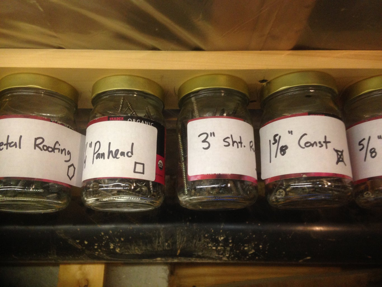 Grandpa's Glass Jar Organizer
