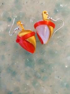 3D Printed Acorn Earrings