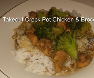 Take Out Crock Pot Chicken & Broccoli