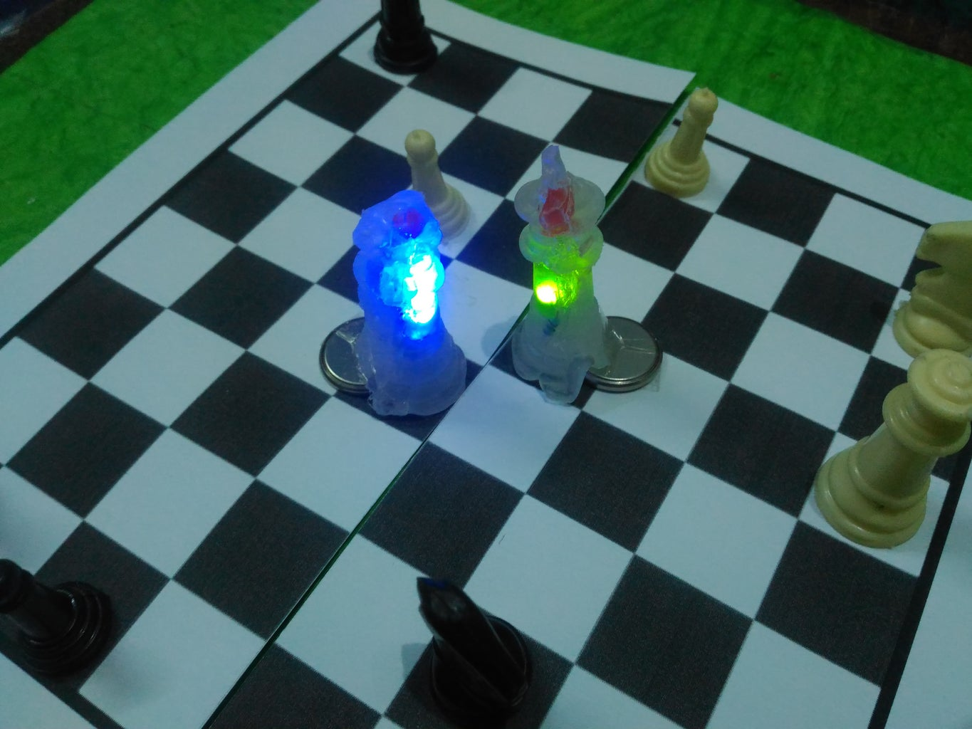 Interactive Glue Chess Pieces