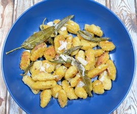 Homemade Pumpkin Gnocchi With Sage Butter and Parmesan