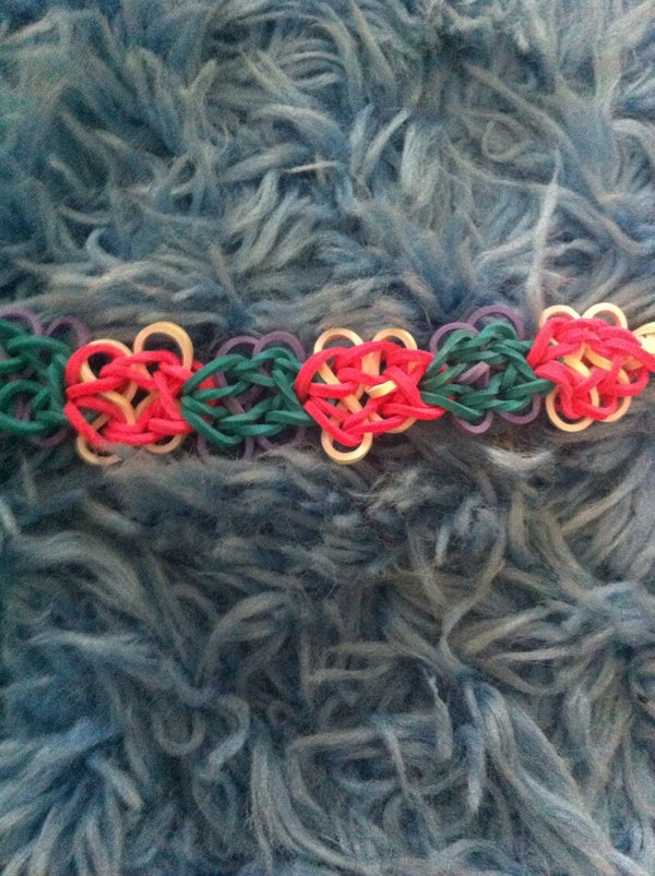 Butterfly Blossoms Rainbow Loom Bracelet