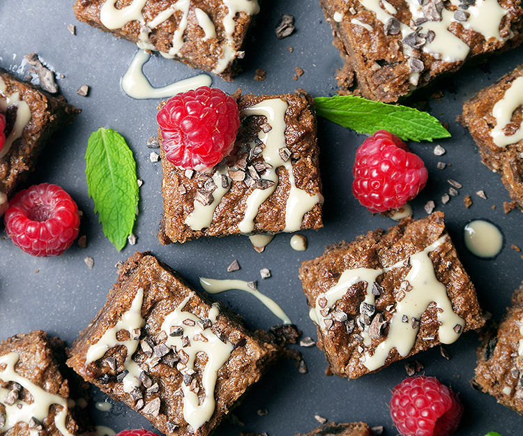Healthy Vegan Gluten Free Tahini Brownies