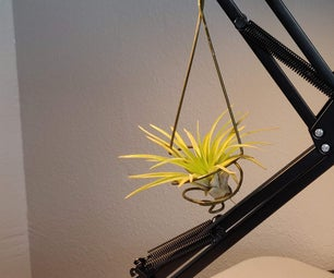 Airplant Holder From Clothes Hanger