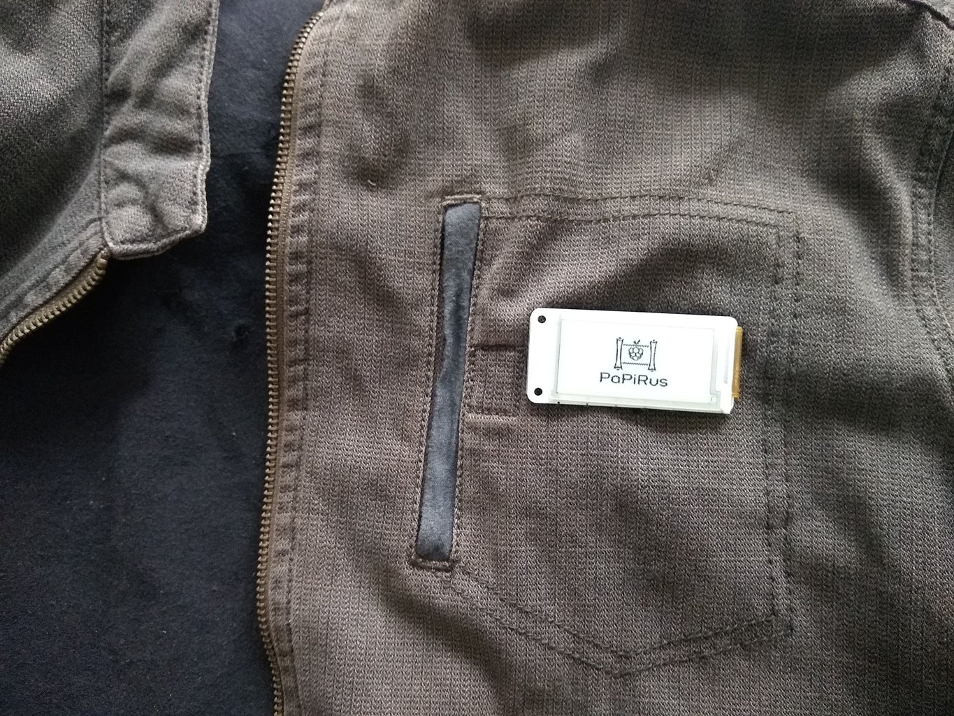 Adding the Badge to Your Jacket Pocket