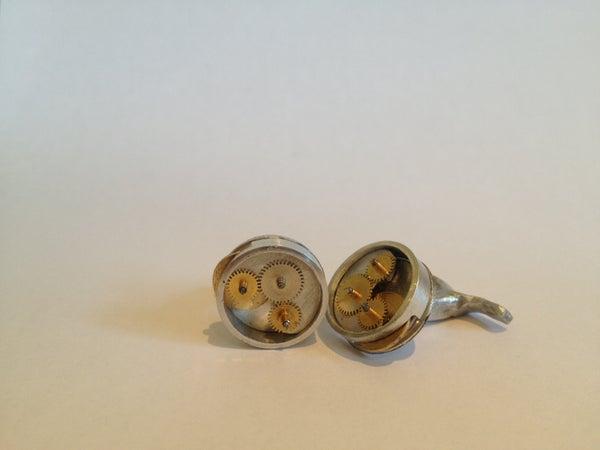 Steampunk Mechanical Cufflinks