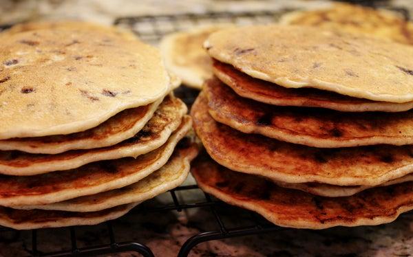 Gluten Free Ricotta Oatmeal Chocolate Chip Pancakes