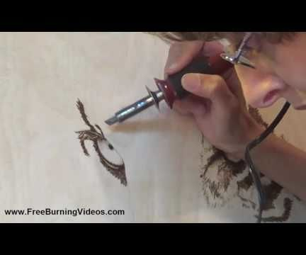 Pyrography: Starting a Large Scale Woodburning - Tiger