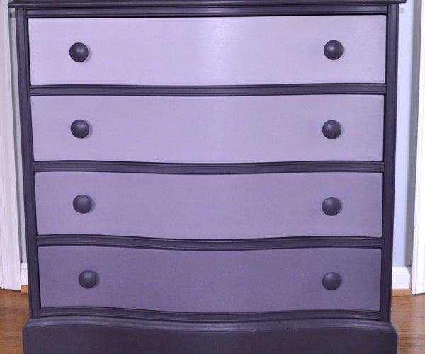 Purple Ombre Dresser